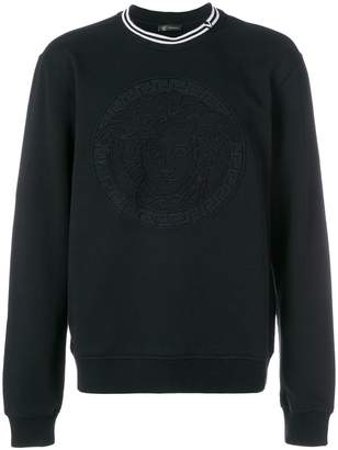 Versace logo long-sleeve sweater