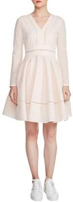 Maje Pointelle Fit & Flare Dress