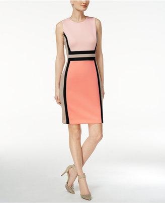Calvin Klein Colorblocked Sheath Dress $89.98 thestylecure.com