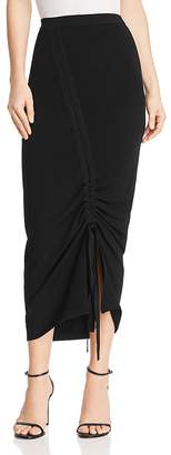 Milly Ruched Knit Skirt