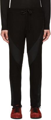 Ann Demeulemeester Black Wetsuit Lounge Pants $810 thestylecure.com