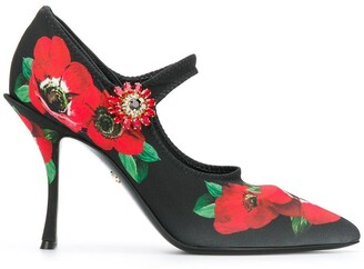 Dolce & Gabbana Mary Jane floral pumps