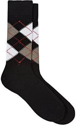Barneys New York Men's Argyle Cotton Mid-Calf Socks $45 thestylecure.com