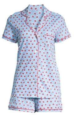 bc31a168cd Roller Rabbit Roller Rabbit Love Bug Two-Piece Polo Pajama Set - Blue - Size