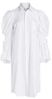 Comme des Garcons Women's Puff Sleeve Shirtdress