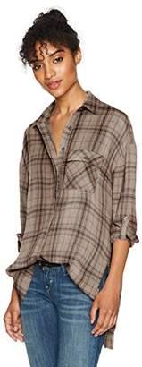 LIRA Women's Hayworth Plaid Button up Top