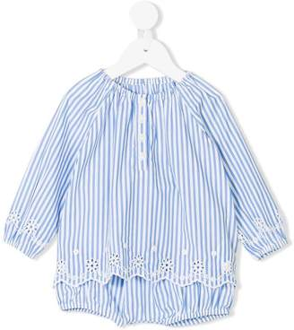 Ralph Lauren Kids striped broderie top and bloomers