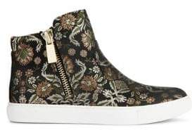 Kenneth Cole New York Kiera Printed Textile High Top Sneakers