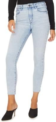Sanctuary Social High Rise Raw Hem Ankle Skinny Jeans