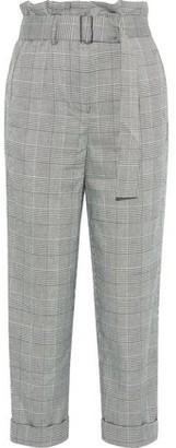 Nicholas Cropped Prince Of Wales Checked Jacquard Straight-leg Pants