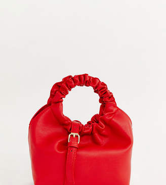 My Accessories London ruched handle mini grab statement bag