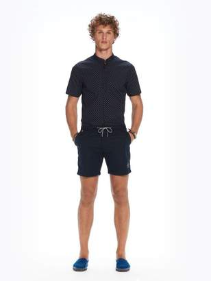 Scotch & Soda Mini-Motif Swim Shorts   Medium length