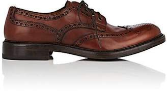 Antonio Maurizi MEN'S BURNISHED LEATHER WINGTIP BLUCHERS - BROWN SIZE 7 M