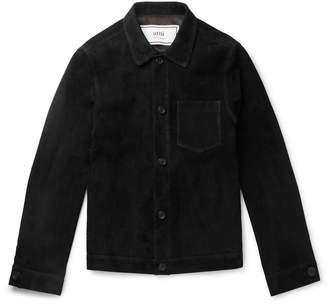 Ami Slim-Fit Suede Blouson Jacket