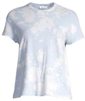 Splendid Women's Cloud Wash Crewneck Tee - Periwinkle/White - Size Large