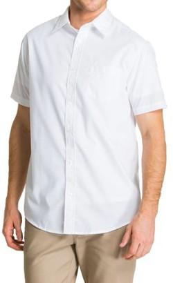 Lee Young Men's Short Sve Dress Shirt