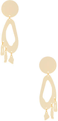 Modern Weaving Lobe Chandelier Earrings