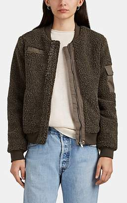 Barneys New York WOMEN'S SHERPA BOMBER JACKET