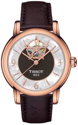Tissot Lady Heart Leather Strap Watch, 35mm
