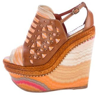 Missoni Espadrille Wedge Sandals