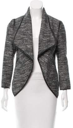 Yigal Azrouel Leather-Accented Bouclé Jacket