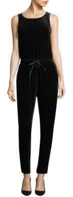 Eileen Fisher Velvet Drawstring Jumpsuit