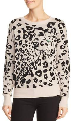 Rebecca Taylor Animal Jacquard Merino Wool Sweater