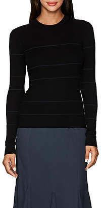 Proenza Schouler Women's Striped Cashmere-Blend Fitted Sweater - Black