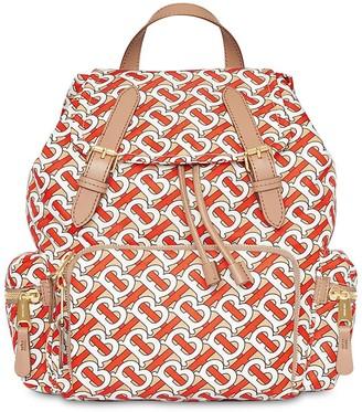 Burberry Md Monogram Nylon Backpack
