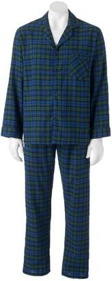 Hanes Men's Ultimate Plaid Flannel Pajama Set