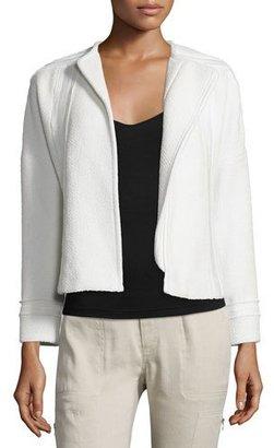 Vince Frayed-Trim Boucle Jacket $395 thestylecure.com