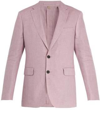 Burberry Soho single-breasted linen jacket