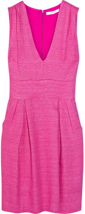 Adam Deep Vee linen-blend dress