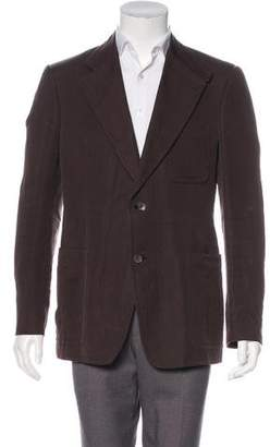 Gucci Suede-Trimmed Notch-Lapel Blazer
