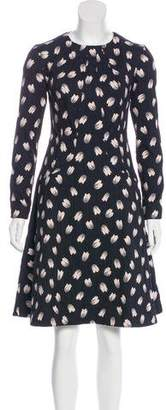 Lela Rose Knee-Length Long Sleeve Reversible Dress