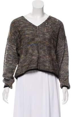 Raquel Allegra Long Sleeve Distressed Sweater w/ Tags