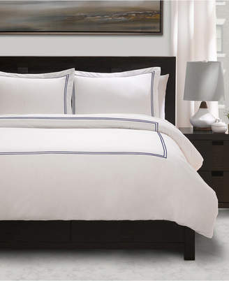100% Cotton Percale 3 Piece Duvet Set with Satin Stitching - Full/Queen Bedding