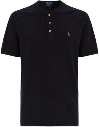 Polo Ralph Lauren Weathered Collarless Polo Shirt