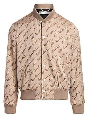 Off-White Men's Skinny Jacquard Varsity Jacket
