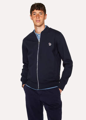 Paul Smith Men's Navy Zebra Logo Cotton Bomber Jacket