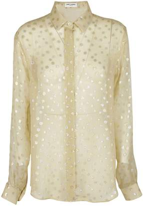 Saint Laurent See-through Printed Blouse