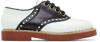 Miu Miu Black and White Bicolor Saddle Shoes