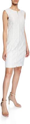 T Tahari Sleeveless Lace Sheath Mini Dress