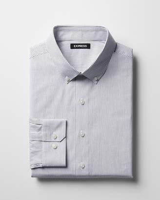 Express Slim Striped Cotton Button-Down Dress Shirt