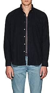 Hartford Men's Cotton Corduroy Button-Down Shirt-Black