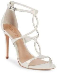 Schutz Rania Leather Ankle-Strap Sandals