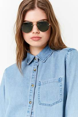 Forever 21 Rimless Round Aviator Sunglasses