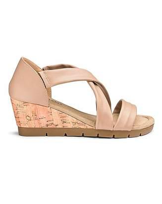 f6fba67e876 Calvin Klein Crossover Wedge Sandals E Fit