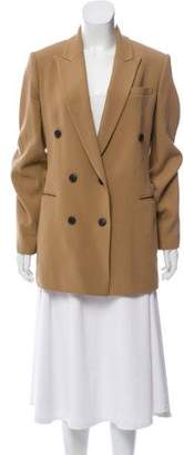Theory Double-Breasted Peak-Lapel Coat