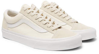 e82bd03774 Vans Ua Style 36 Leather-trimmed Canvas And Suede Sneakers - White